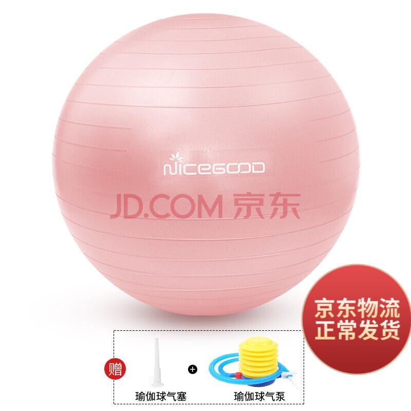 纳古迪(NiceGood) 纳古迪 瑜伽球加厚防爆正品运动健身球儿童孕妇分娩助产瑜珈平衡球 瑜伽球 粉色65CM(身高160-165)