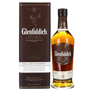 Glenfiddich 格兰菲迪 18年 苏格兰达夫镇单一麦芽威士忌700ml
