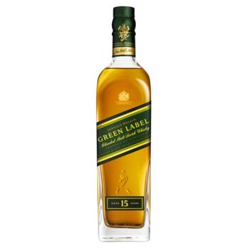 JOHNNIE WALKER 尊尼获加 绿牌调配型苏格兰威士忌 750ml+深蓝 原味伏特加 750ml*2瓶