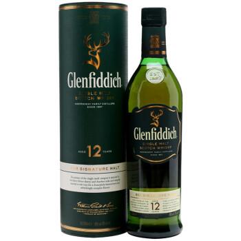 格兰菲迪威士忌 700ml:12年单一纯麦芽,包装精美送礼自用