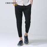 鳄鱼恤(CROCODILE)韩版休闲薄款小脚裤修身九分裤 98551060 黑色 33 *7件 258.1元(合 36.87元/件)
