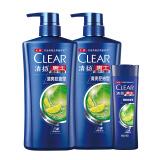 CLEAR 清扬 男士洗发水套装 清爽控油型 500ml*2瓶+100ml *3件 169元(合 56.33元/件)