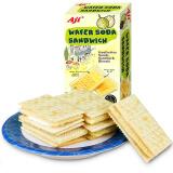 Aji 饼干蛋糕 零食 早餐饼干 威化苏打夹心饼干 榴莲味 200g/盒 *6件 59.9元(合 9.98元/件)