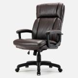 博泰 电脑椅 家用椅子老板椅 办公皮椅子棕色皮椅BT-90663H 341.6元