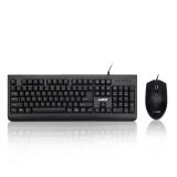 黑爵(AJAZZ )X1180防水光电键鼠套装 黑色 办公 电脑 笔记本 键盘鼠标 券后 39元