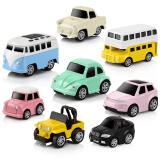 豆豆象 宝宝玩具车合金回力车 巴士小汽车早教玩具车模型 玩具车套装 8只装彩色版回力车 25元