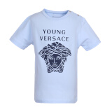YOUNG VERSACE 范思哲 奢侈品童装 男童蓝色棉氨纶圆领短袖T恤 YVBTS111 Y0002 Y3773 36M/3A 336元