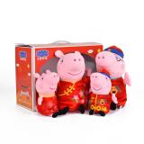 Peppa Pig 小猪佩奇 毛绒玩具 新年款大号一家彩盒 *2件 142.9元(合 71.45元/件)