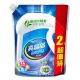 亮晶晶 全效护理洗衣液(浪漫薰衣草香)去污去渍源自天然酵素 袋装2kg *2件 22.8元(合 11.4元/件)