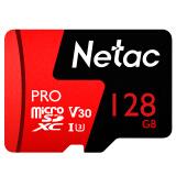 朗科(Netac)128GB 专业视频监控存储卡 高度耐用支持4K摄像 行车记录仪+家庭监控摄像头内存卡 TF卡 159.9元