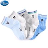 迪士尼 Disney 袜子 儿童精梳棉网眼袜 00097 男童5双 14-16cm/适合 2-4岁 *3件 69.6元(合 23.2元/件)