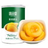 味品堂 糖水黄桃罐头 水果罐头 黄桃对开 425g 4.7元