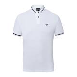 EMPORIO ARMANI阿玛尼奢侈品18春夏新款男士短袖POLO衫3Z1FL 1-1JQYZ WHITE-0100 XL 980元