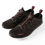 探路者徒步鞋 春夏男女情侣款健走鞋 轻便舒适耐磨运动鞋 TFOG81702 黑色/漂白 42 199元