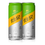 Schweppes 怡泉 零糖零卡 柠檬味苏打水 330ml*24罐 *2件 79.9元(买1赠1)