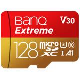 banq 128GB TF(MicroSD)存储卡 U3 C10 A1 4K V30 高速专业版 读速100MB/s 行车记录仪监控手机内存卡 149.9元