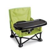 夏漫婴纷(summer infant) 宝宝便携式折叠矮椅(绿色)可折叠便携宝宝餐桌椅多功能餐椅餐桌矮脚椅增高座椅 223元