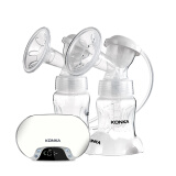 康佳(KONKA)KYR01 电动吸奶器 静音可充电式吸奶器双边自动吸接乳器 双边电动吸奶器 珍珠白+凑单品 217.8元