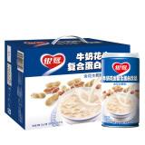 银鹭 花生牛奶口味 复合蛋白质饮料 370g*12罐 整箱 36.9元
