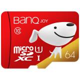 banq 64G 读速100MB/s Class10手机内存卡MicroSDXC UHS-I存储卡 68.9元