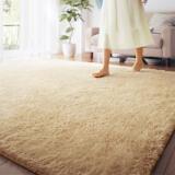 富居 地毯 单色时尚长丝绒 浅米色 1.4米*2米 *3件 307.9元(合 102.63元/件)