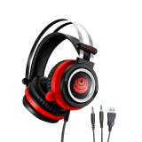 UUD GAMING系列K700电竞专属耳机 头戴式降噪短麦耳机 吃鸡游戏耳机89元
