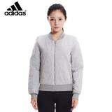 阿迪达斯adidas 潮流时尚 女款灰色针织夹克 NEO系列 . S164元(包邮)