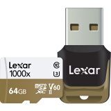 Lexar 雷克沙 UHS-II U3 V60 MicroSD存储卡 64GB 314元