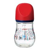 贝亲(Pigeon)自然实感宽口径臻宝玻璃奶瓶160ml(刺猬)129元 129.00