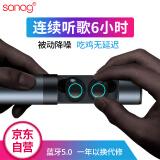 Sanag J1双耳无线真无线蓝牙耳机 商务入耳式 立体声 air-tws Iphone7/8/X 安卓手机通用 深空灰 249元