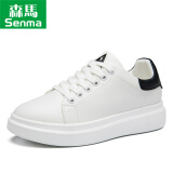 Semir 森马 127315527 女士厚底小白鞋 白黑色 37 169元