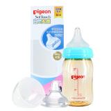 贝亲自然实感宽口径PPSU塑料奶瓶奶嘴套装160ml+SS/S PL338 66元
