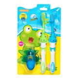 青蛙套装系列儿童软毛护龈牙刷×2 119B(颜色 赠品随机 3岁以上适用) *8件 90元(合 11.25元/件)