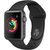 21日0点:Apple 苹果 Watch Sport Series 1 智能手表 38毫米 深空灰 黑色 1399元包邮