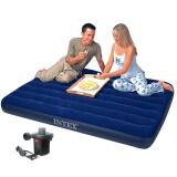 INTEX 充气床垫双人特大蓝色植绒加厚气垫床户外野营帐篷防潮垫子203x183x22cm 68755 128元(需用券)