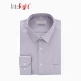 限华中:INTERIGHT 100支棉 商务男款长袖衬衫 50.00