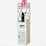 帅力 SL17055Z 卫生间夹缝柜 白色 49.5元(1件5折)