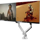 AOC 银色双屏显示器支架/自由悬停/360°旋转/铝合金材质/电脑架 302元