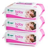 九佳兴 婴儿柔湿巾 手口可用护肤湿纸巾 100片x3包 9.9元