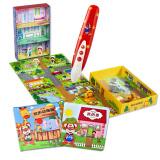 红袋鼠 我的城市系列 儿童点读笔 我的家 动物园主题拼图故事书 早教学习点读机 益智玩具礼盒 168元
