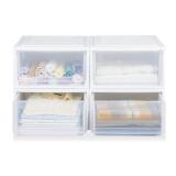 历史低价:IRIS 爱丽思 BC-500 可叠加塑料收纳箱 4个装 +凑单品 185.72元包邮(双重优惠)