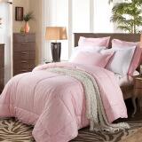 水星家纺 100%羊毛春秋被 床上用品被子被芯 双人被子200*230cm 粉色 *3件 847元(合282.33元/件)