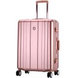 爱华仕(OIWAS)飞机轮拉杆箱6193 铝框海关密码锁行李箱 商务出差旅行硬箱 24英寸玫瑰金 379元