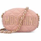 MOSCHINO 莫斯奇诺 女士粉色棉纶柳钉链条单肩包 7B7408 8203 21691499.5元