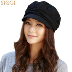 Siggi 帽子女秋冬天韩版潮女士户外鸭舌帽贝雷帽八角帽