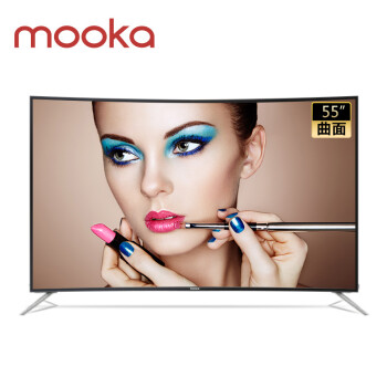 MOOKA 模卡 U55Q81J 55英寸 4K曲面 液晶电视
