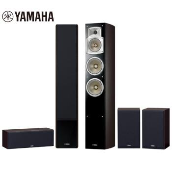 雅马哈(Yamaha)NS-F350系列 音响 音箱 5.0家庭影院 电视音响 落地影院 客厅影院 音响套装 进口 胡桃木色