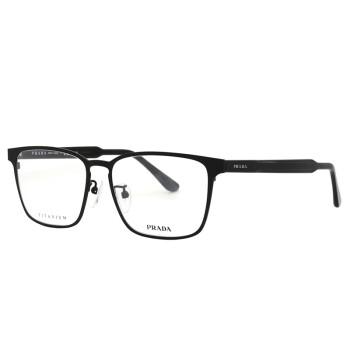 PRADA普拉达方框商务眼镜架黑框板材眼镜框近视眼镜男女眼镜框61T 61TVD-1B0101-56