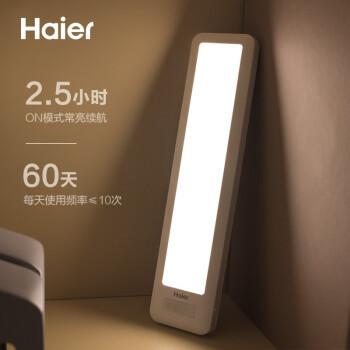 海尔(Haier)F1M感应小夜灯智能人体感应灯橱柜灯 LED充电节能卧室床头灯婴儿宝宝喂奶灯起夜灯氛围灯伴睡眠
