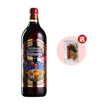 送香料包夏桑园德国原瓶进口圣诞热红酒丝丹佛甜红葡萄酒果酒女士微醺晚安酒1L装Gluhwein 煮红酒 丝丹佛热红酒1支+香料包1包